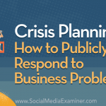 Crisis Planning: How to Publicly Respond to Business Problems